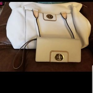 Kate spade ivory purse and wallet